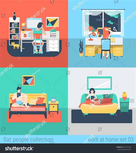 freelance design work from home isometric pixel style