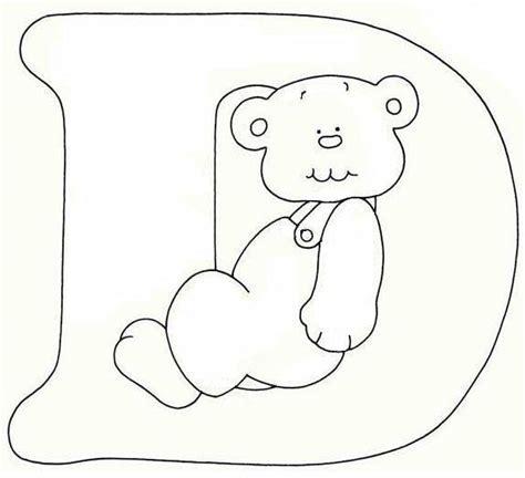 lettere alfabeto da disegnare alfabeto orsetto disegni per bambini da colorare