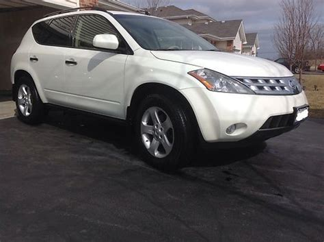 how to sell used cars 2004 nissan murano instrument cluster sell used 2004 nissan murano sl sport utility 4 door 3 5l clean white leather sunroof in monee