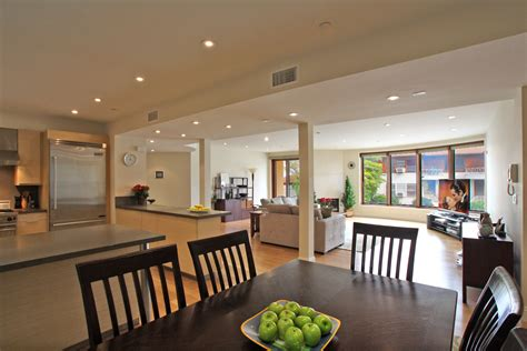 open floor plan kitchen dining living room just sold 1825 fox drive century city 90025