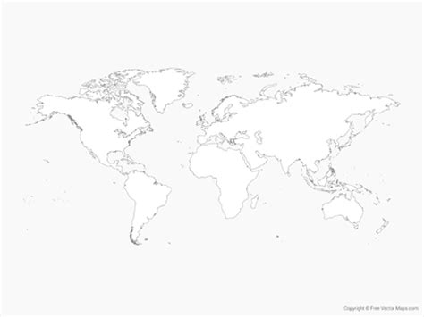 world map outline vector vector map of world outline free vector maps