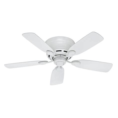 lowes flush mount white ceiling fans shop low profile iv 42 in white indoor flush mount