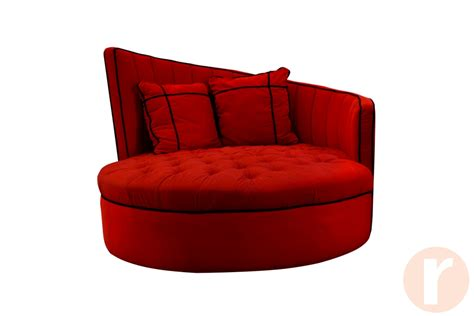 loveseat round red round sofa chair hereo sofa