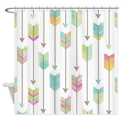 arrow curtains watercolor arrows pattern shower curtain by cutetoboottoo