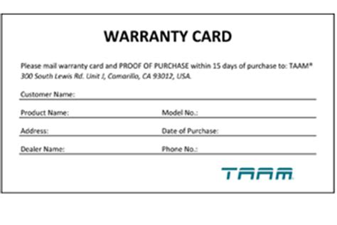 warrant card template taam aquarium products