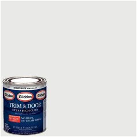 home depot interior paint brands glidden trim and door 1 qt bright white gloss interior