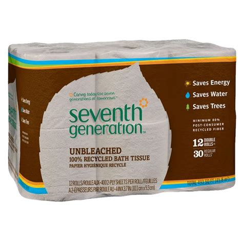 seventh generation bathroom tissue seventh generation brown 2 ply bath tissue organic skin care