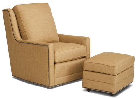 Smith Brothers Accent Chairs And Ottomans Sb Transitional Chair And Ottoman