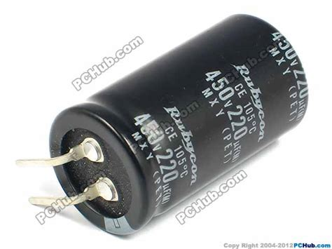 rubycon capacitor electrolytic 400v 450v 450v 220uf 25x45mm height