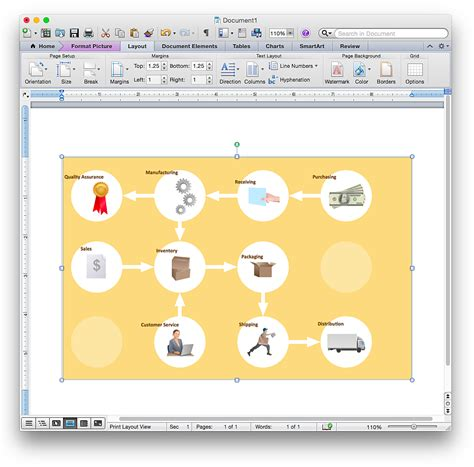 workflow word add a workflow diagram to a ms word document conceptdraw