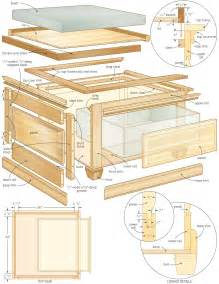 Barrister Bookcase Antique Coffee Table Storage Bench Woodworking Plans Woodshop Plans