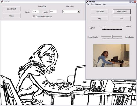 line drawing software free photos makes line drawings from photographs