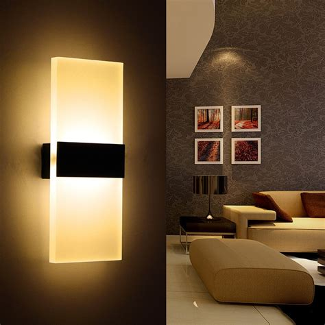 Modern Led Wall L Acryl Metal Home Lighting Bedroom Bedroom Sconce Lighting