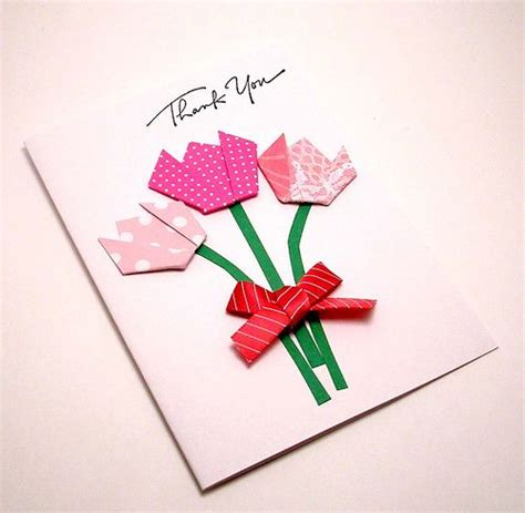 Origami Flowers For Cards - origami flower card kittykatkards greeting cards