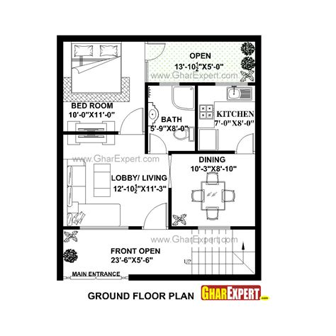 25 best ideas about indian house plans on pinterest plans de maison indiennes tiny houses house plan for 25 feet by 30 feet plot plot size 83