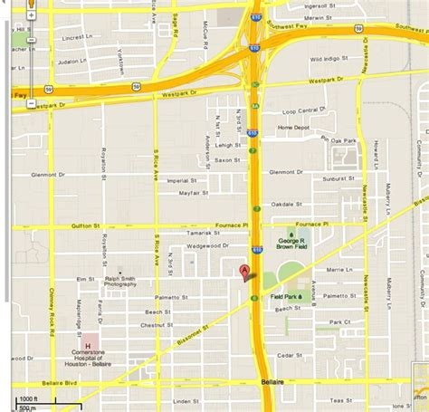 map of bellaire texas bellaire tx near the houston galleria