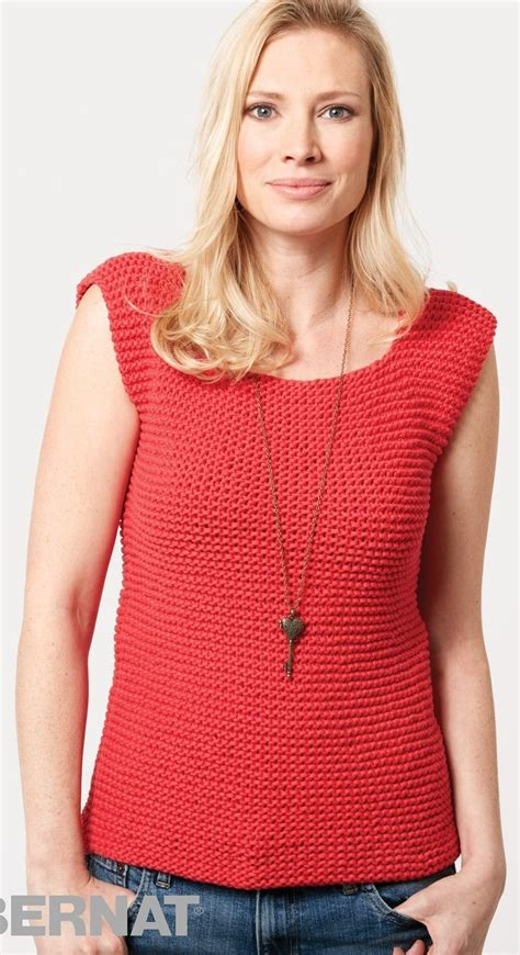 knit a tank top free knitting pattern for garter stitch tank this bernat