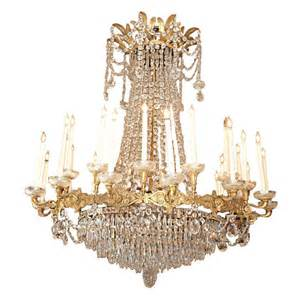 empire chandeliers antique empire exceptional ormolu and baccarat