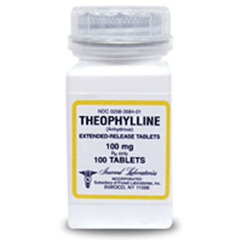 theophylline for dogs theophylline extended release 100 mg 100 tablets vetdepot