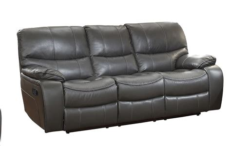 sofa match homelegance pecos double reclining sofa leather gel