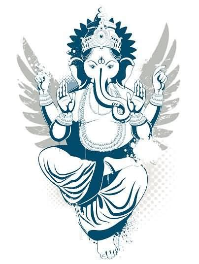 hindu god tattoos designs the ganesh elephant god design