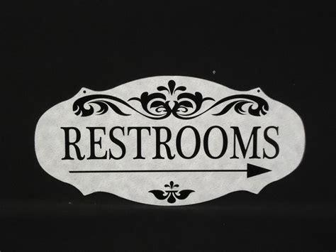 custom bathroom signs custom made classy restroom sign indoor signage pinterest