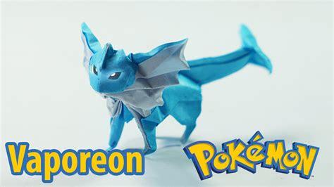 Origami Eevee - paper origami vaporeon シャワーズ tutorial henry