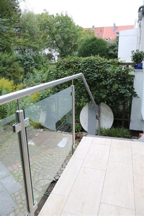 handlauf terrasse edelstahlgel 228 nder mit sicherheitsglas