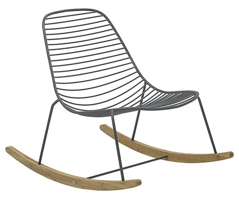 sketch rocking chair metal bamboo grey bamboo by houe