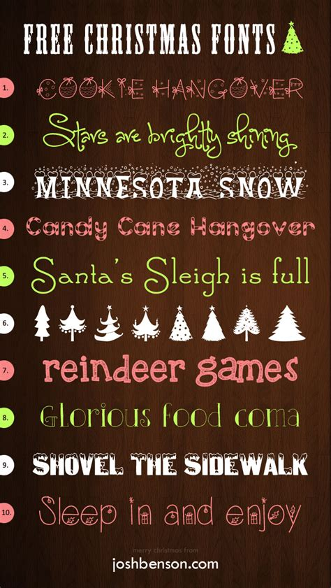10 free christmas fonts for your projects josh benson