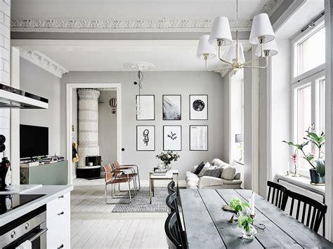 grey  white interior design inspiration  scandinavia