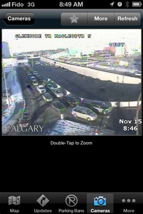 city of calgary road conditions ios app: real time info
