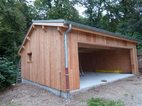 construction garage en bois construction d un garage en ossature bois caluire