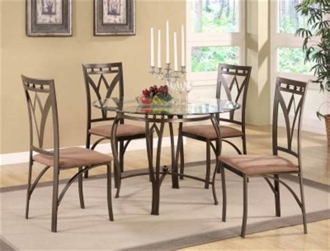 Glass And Metal Dining Room Sets by Glass Top Metal Base Modern 5pc Dining Set