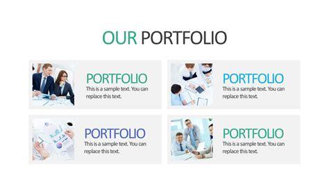 portfolio presentation template company portfolio editable powerpoint slide slidemodel