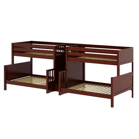 quad bunk beds twin full quadruple bunk bed with staircase quad bunk