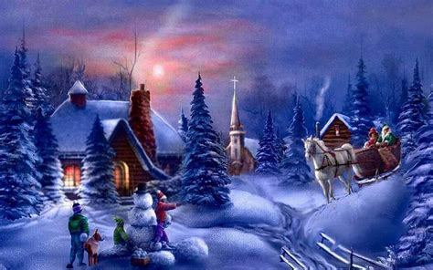 google images christmas scenes beautiful christmas wallpapers wallpaper cave