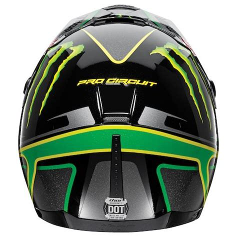 monster energy motocross helmet for sale black green