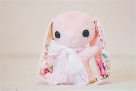 Handmade Plushies - handmade teacup bunny plushie by tiny tea on