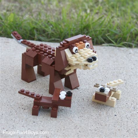 how are puppies lego building