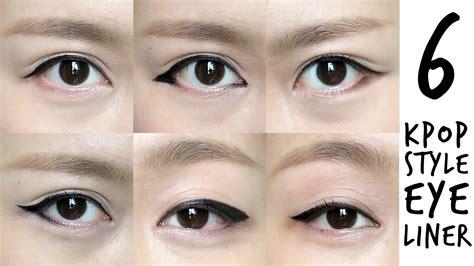 pop inspired korean style eyeliner tutorial youtube