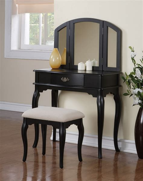 black bedroom vanity small black bedroom makeup vanity with cushioned bench and