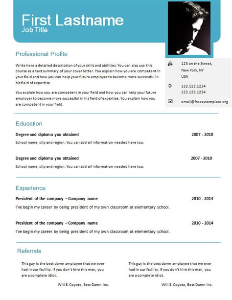 Free Cv Templates For Word 625 631 Free Cv Template Dot Org Cv Template Doc