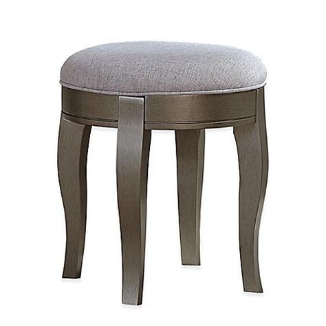 silver vanity chairs kensington vanity stool in antique silver brown bed bath