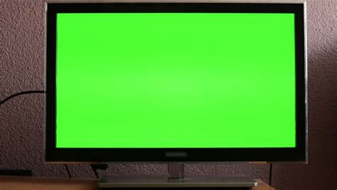 green tv tv television green screen stock footage video 6202019