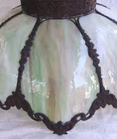 Slag Glass L Shade Repair by Antique Stained Slag Glass L Shade 22