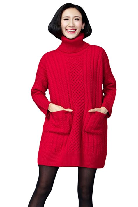 Turtleneck Cable Knit Dress womens plain turtleneck sleeve cable knit sweater