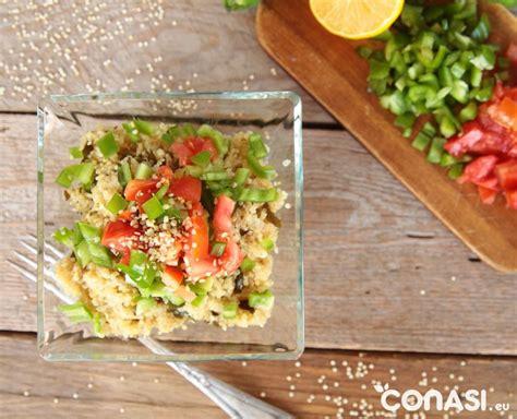 cocinar quinoa real receta de quinoa con algas y verduras
