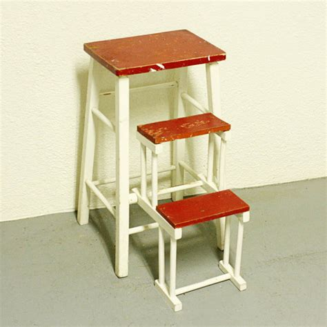 vintage kitchen stools with steps vintage kitchen stool step stool stool chair fold