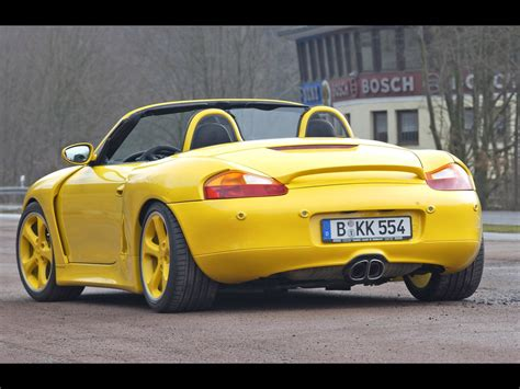 porsche widebody rear 2004 porsche boxster widebody by techart rear angle